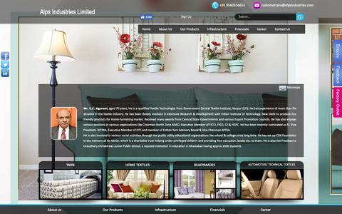 Screenshot of Team Page alpsindustries.com - Alps Industries Limited - captured Nov. 12, 2018