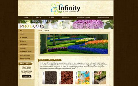 Screenshot of Products Page infinitylawnandgarden.com - Products - Infinity Lawn & Garden - captured Oct. 6, 2014