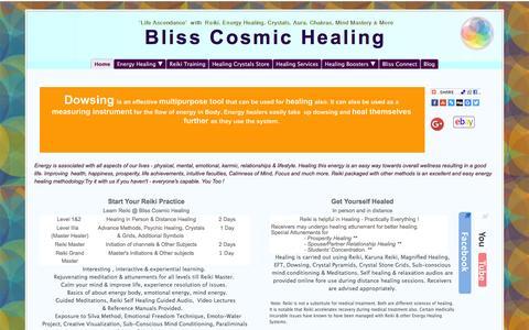 Screenshot of Home Page blisscosmichealing.net - Bliss Cosmic Healing - captured Jan. 5, 2016