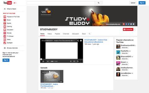 Screenshot of YouTube Page youtube.com - STUDYeBUDDY  - YouTube - captured Oct. 23, 2014
