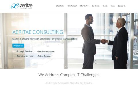 Aeritae | Leaders in Bringing Innovation, Balance & Performance to IT Organizations