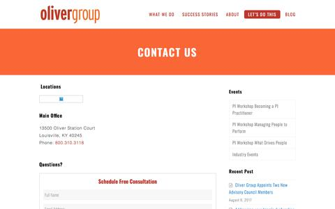 Contact Us - Oliver Group