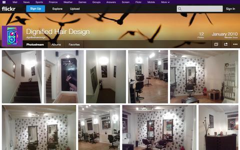 Screenshot of Flickr Page flickr.com - Flickr: dignifiedhairdesign's Photostream - captured Oct. 23, 2014