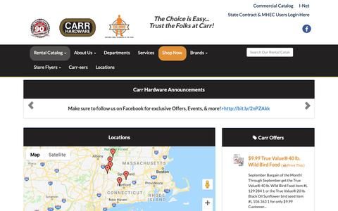 Screenshot of Locations Page carrhardware.com - Locations | Northern Connecticut, Western Massachusetts, Avon, Enfield, Great Barrington, Lee, North Adams, Pittsfield  | Carr Hardware | Pittsfield, MA | Avon, CT | North Adams, MA | Enfield, CT | Lee, MA | Great Barrington, MA - captured Sept. 27, 2018