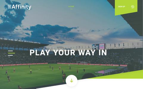 Screenshot of Home Page affinityed.com - Affinity Sports & Education Ltd - captured Nov. 12, 2018