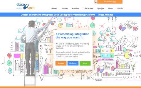 Screenshot of Home Page Privacy Page dosespot.com - e-Prescribing Integration and Software | DoseSpot - captured Sept. 30, 2014