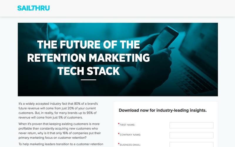 Future of the Retention Marketing Tech Stack | Sailthru