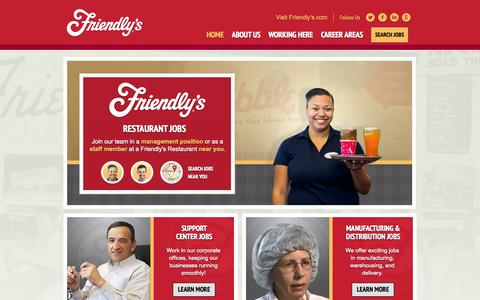 Screenshot of Jobs Page friendlys.com - Jobs at Friendly's | Join the Friendly's Team | Home - captured Sept. 24, 2014