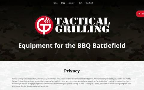 Screenshot of Privacy Page tacticalgrilling.com - Privacy   Tactical GrillingTactical Grilling - captured Oct. 9, 2014