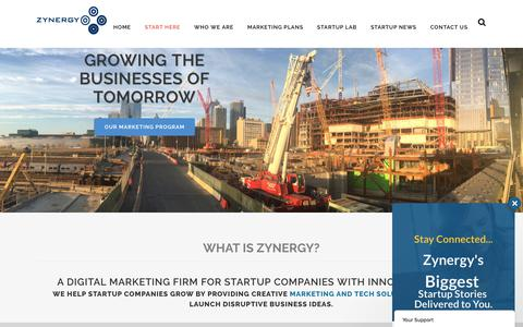 Screenshot of Home Page zynergy.com - Zynergy | Consulting & Funding Startup Companies in NYC - captured June 11, 2017