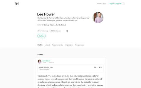 Lee Hower – Medium