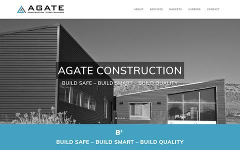 Screenshot of Home Page agateinc.com - Home - Agate - captured Nov. 6, 2018