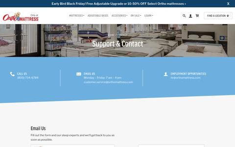Screenshot of Contact Page orthomattress.com - Contact Us For Free Today (800) 734-6784   Ortho Mattress® - captured Nov. 16, 2018