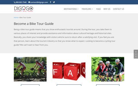 Screenshot of Jobs Page digngo.com - Become a Bike Tour Guide | DIGnGO - captured Oct. 30, 2018