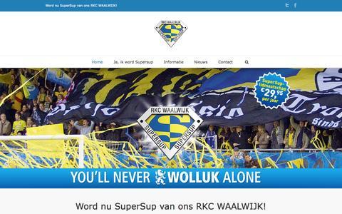 Screenshot of Home Page steunrkc.nl - Stichting Steun RKC - Word nu SuperSup van ons RKC WAALWIJK! - captured Oct. 6, 2014
