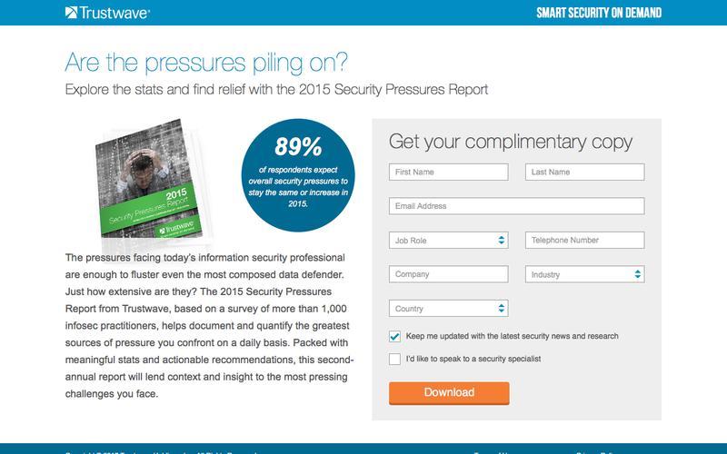 2015 Security Pressures Report from Trustwave