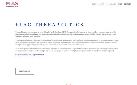 Screenshot of About Page flagtherapeutics.com - About — Flag Therapeutics - captured Nov. 14, 2018