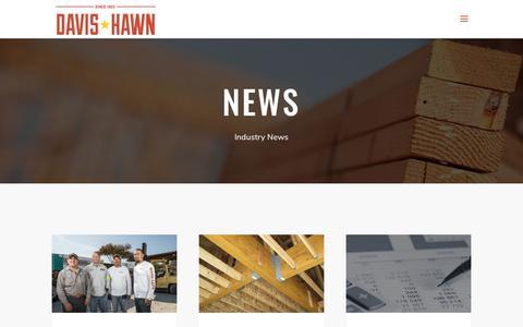 Screenshot of Press Page davis-hawn.com - News - Davis Hawn - captured July 5, 2019