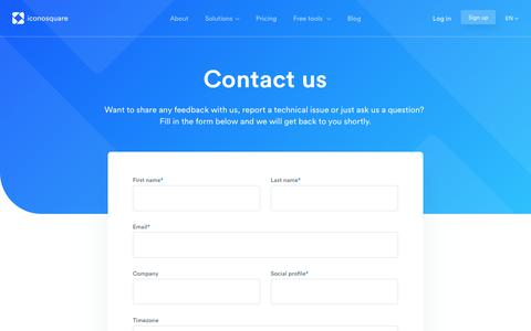 Screenshot of Contact Page iconosquare.com - Contact us | Iconosquare - captured Nov. 15, 2018