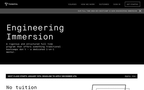 Become a Software Engineer | Thinkful Engineering Immersion