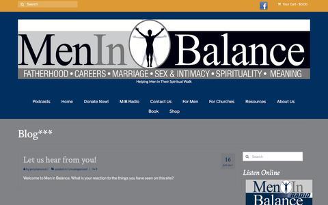 Screenshot of Blog meninbalance.org - Blog*** – Men in Balance - captured Sept. 20, 2018
