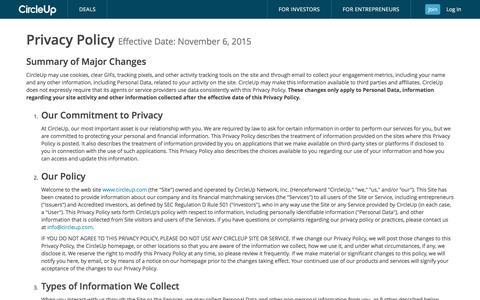 CircleUp Privacy Policy