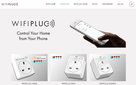 Screenshot of Products Page wifiplug.co.uk - App controlled Smart Plug from £30, WIFI Controlled Light Switches - captured Nov. 30, 2016