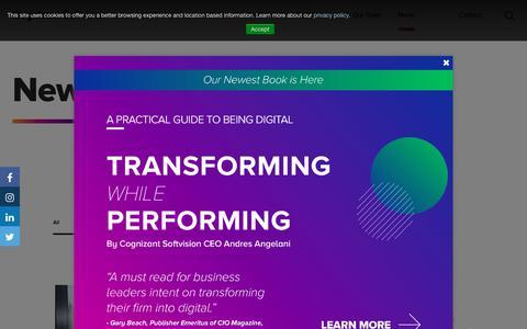 Screenshot of Press Page cognizantsoftvision.com - Cognizant Softvision - News - captured Dec. 6, 2019