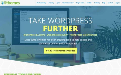Screenshot of Home Page ithemes.com - iThemes: Premium WordPress Plugins & Tools - captured May 5, 2018