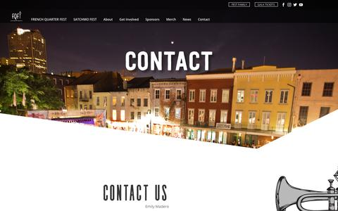 Screenshot of Contact Page fqfi.org - Contact | FQFI - captured Feb. 18, 2018