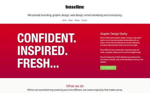 Screenshot of Home Page graphic-design-derby.co.uk - Baseline - Obsessively Creative - Graphic Design Derby - captured Oct. 5, 2014