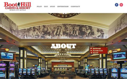 Screenshot of About Page boothillcasino.com - About — Boot Hill Casino & Resort - captured Oct. 6, 2018