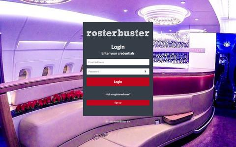 Screenshot of Login Page rosterbuster.com - RosterBuster | Login - captured Feb. 24, 2016