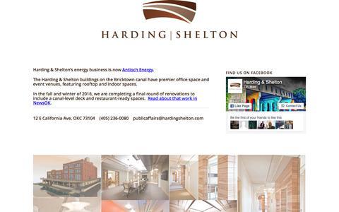 Screenshot of Home Page hardingshelton.com - Harding & Shelton - captured Oct. 25, 2016
