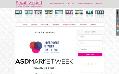 Screenshot of retailminded.com - IRC at the ASD Show - captured March 29, 2017