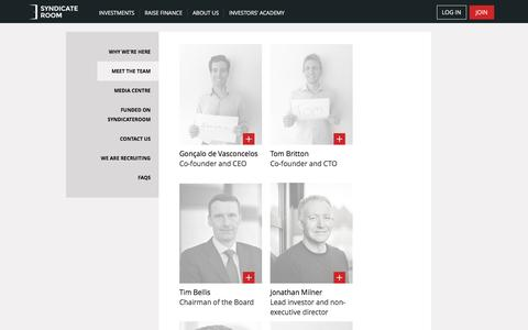 Screenshot of Team Page syndicateroom.com - The team at SyndicateRoom - captured Aug. 18, 2016