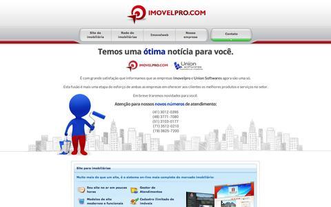Screenshot of Home Page imovelpro.com.br - Site para imobiliarias, corretores e redes de imobiliarias - Imóvel PRO - captured Aug. 5, 2016
