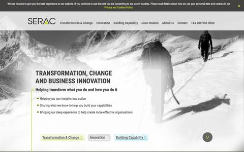 Screenshot of Home Page seraclimited.com - Serac Limited - captured July 20, 2019
