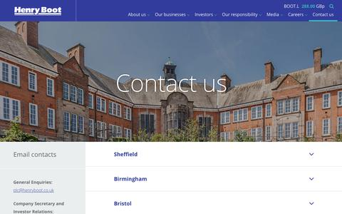 Screenshot of Contact Page henryboot.co.uk - Contact us | Henry Boot - captured Sept. 28, 2018