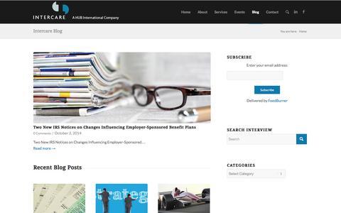 Screenshot of Blog intercaresolutions.com - Intercare Blog | InterVIEW - captured Oct. 6, 2014