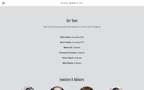 Screenshot of Team Page high-mobility.com - Team — HIGH MOBILITY - captured Dec. 3, 2015