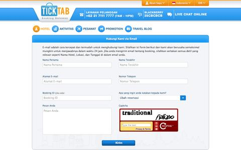 Screenshot of Support Page ticktab.com - Kontak Kami | Ticktab.com - captured Sept. 23, 2014