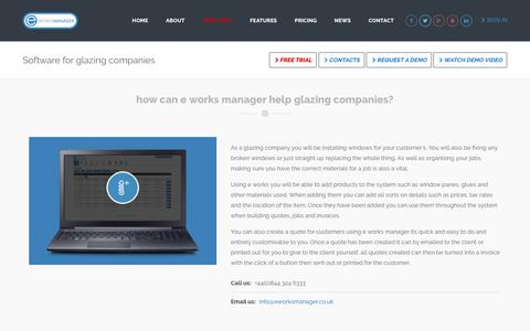 E Works Manager - Software For Glazing Companies
