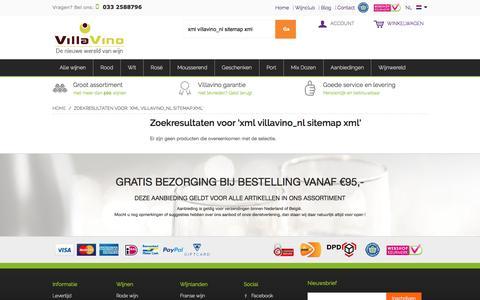 Screenshot of Site Map Page villavino.nl - VillaVino, de nieuwe wereld van wijn - captured Aug. 13, 2016
