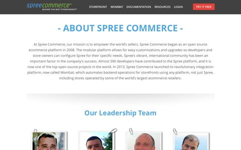 Screenshot of About Page spreecommerce.com - Spree Commerce | About the Spree Commerce Team | Spree Commerce - captured Sept. 17, 2014