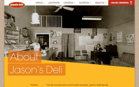 Screenshot of About Page jasonsdeli.com - About Jason's Deli | Family Owned | Jason's Deli - captured Sept. 20, 2018
