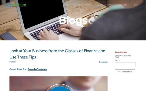 Screenshot of Blog elucentra.com - Elucentra - Blog - captured July 18, 2018