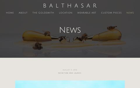 Screenshot of Press Page balthasar.com.au - News — B  A  L  T  H  A  S  A  R - captured Nov. 22, 2016