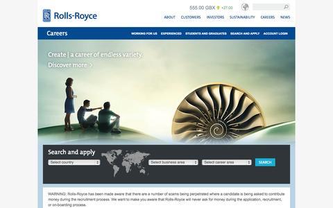 Screenshot of Jobs Page rolls-royce.com - Careers – Rolls-Royce - captured Nov. 17, 2015