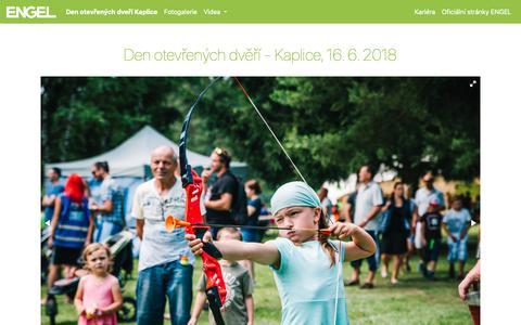 Screenshot of Home Page engel.cz - ENGEL CZ - captured Sept. 28, 2018